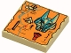 Part No: 3068px19  Name: Tile 2 x 2 with Map Orange and Hieroglyphs, 40 Pattern