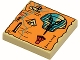 Part No: 3068px20  Name: Tile 2 x 2 with Map Orange and Hieroglyphs, 60 Pattern