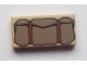 Part No: 3069bpb0047  Name: Tile 1 x 2 with Groove with Bedroll Dark Gray Pattern
