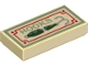 Part No: 3069bpb0617  Name: Tile 1 x 2 with Groove with 'HOOKS' and Fishing Hook Pattern