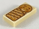 Part No: 3069bpb0737  Name: Tile 1 x 2 with Groove with Gingerbread Baby Pattern