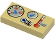 Part No: 3069bpx23  Name: Tile 1 x 2 with Groove with Car Gauges Pattern