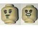 Part No: 3626cpb1575  Name: Minifigure, Head Dual Sided Alien with SW Luminara Unduli Gray Lips and Large Blue Eyes, Neutral / Angry Pattern - Hollow Stud
