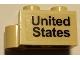 Part No: 3831pb02  Name: Hinge Brick 1 x 4 Swivel Base with 'United States' Pattern (Sticker)- Set 10029