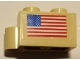 Part No: 3831pb03  Name: Hinge Brick 1 x 4 Swivel Base with USA Flag Pattern (Sticker) - Set 10029