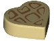 Part No: 39739pb03  Name: Tile, Round 1 x 1 Heart with Waffle Pattern