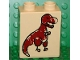 Part No: 4066pb190  Name: Duplo, Brick 1 x 2 x 2 with Cave Painting Dinosaur Pattern