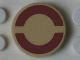 Part No: 4150pb168  Name: Tile, Round 2 x 2 with Dark Red SW Semicircles on Clear Background Pattern (Sticker)
