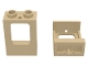 Part No: 60032  Name: Window 1 x 2 x 2 Plane, Single Hole Top and Bottom for Glass