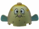 Part No: 60339px1  Name: Body Pufferfish with Mrs. Puff Pattern (SpongeBob)