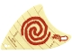 Part No: 67172  Name: Cloth Sail Triangular with Red Spiral Swirl Pattern, 2 Holes, Small (Moana)