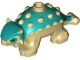 Part No: 67443pb02  Name: Dinosaur Ankylosaurus Baby with Dark Turquoise Back and Black Eyes Pattern