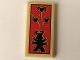 Part No: 87079pb0586  Name: Tile 2 x 4 with Garmadon Figure and Oni Masks Pattern (Sticker) - Set 70643