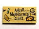Part No: 87079pb0649  Name: Tile 2 x 4 with 'Anger Management Class' and 'TODAY' Pattern (Sticker) - Set 75823
