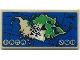 Part No: 87079pb0982  Name: Tile 2 x 4 with Map Island with Mountains, 'MT' and Bionicle Logogram 'MATA NUI' Pattern (Sticker) - Set 70657