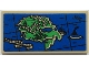 Part No: 87079pb0983  Name: Tile 2 x 4 with Map Island with Mountains, 'MT', Volcano and 'ISLAND OF NINJAGO' Pattern (Sticker) - Set 70657