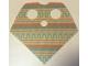 Part No: 90542pb03  Name: Minifigure, Poncho Half Cloth with Aqua and Terra Cotta Pattern