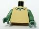 Part No: 973pb0413c02  Name: Torso SpongeBob with Sand Green Neck, Shirt Collar Pattern / Sand Green Arms / Sand Green Hands