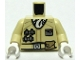 Part No: 973pb0623c01  Name: Torso SW Hoth Rebel Jacket with White Scarf and Tan Belt Pattern / Tan Arms / White Hands