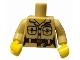 Part No: 973pb0935c01  Name: Torso Safari Shirt with Pockets, Belt, Key Ring and 'ZOO' Pattern / Tan Arms / Yellow Hands