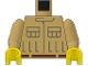 Part No: 973psac01  Name: Torso SW Rebel Mechanic Pattern / Tan Arms / Yellow Hands