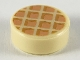 Part No: 98138pb118  Name: Tile, Round 1 x 1 with Waffle, Nougat Squares with Medium Nougat Edges Pattern