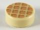 Part No: 98138pb118  Name: Tile, Round 1 x 1 with Waffle, Nougat Squares with Medium Nougat Edges Pattern
