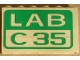 Part No: BA012pb07  Name: Stickered Assembly 6 x 1 x 3 with 'LAB C35' Pattern (Sticker) - Set 4851 - 3 Brick 1 x 6