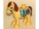 Part No: horse05c01pb03  Name: Duplo Horse Pony with Saddle, Reddish Brown Mane and Tail Pattern