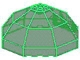 Part No: 2598  Name: Windscreen 10 x 10 x 4 Octagonal Canopy