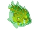 Part No: 57553pb01  Name: Bionicle Head, Barraki Ehlek, Marbled Lime Pattern