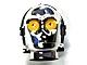 Part No: x134pb01  Name: Minifigure, Head, Modified SW C-3PO / K-3PO Protocol Droid with Yellow Eyes Pattern