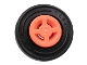 Part No: 34337c01  Name: Wheel 8mm D. x 6mm with Slot with Black Tire 14mm D. x 4mm Smooth Small Single with Number Molded on Side (34337 / 59895)