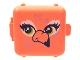 Part No: 64462pb02  Name: Container, Box 3 x 8 x 6 2/3 Half Front with Flamingo Bird Face Pattern