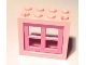 Part No: 4132c05  Name: Window 2 x 4 x 3 Frame with Medium Dark Pink Window 2 x 4 x 3 Pane (4132 / 4133)