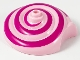 Part No: 44514pb02  Name: Snail Shell with Dark Pink Spiral Pattern