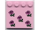 Part No: 6179px3  Name: Tile, Modified 4 x 4 with Studs on Edge with Roses Pattern