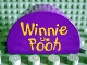 Part No: 31213px01  Name: Duplo, Brick 2 x 4 x 2 Curved Top with 'Winnie the Pooh' Pattern