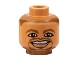 Part No: 3626bpb0132  Name: Minifigure, Head NBA Jason Kidd Pattern - Blocked Open Stud
