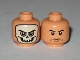 Part No: 3626bpb0376  Name: Minifigure, Head Dual Sided Skull Mask / Arched Eyebrows and White Pupils Pattern - Blocked Open Stud