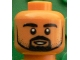 Part No: 3626cpb1605  Name: Minifigure, Head Black Beard and Stubble, White Pupils, Small Open Smile Pattern (Sami Khedira) - Hollow Stud