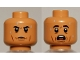 Part No: 3626cpb2586  Name: Minifigure, Head Dual Sided Black Eyebrows, Cheek Lines, Sweat Drops Calm / Scared Pattern - Hollow Stud