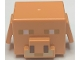 Part No: 73232pb01  Name: Minifigure, Head, Modified Cube with Ear Flaps and Minecraft Piglin Face Pattern