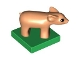 Part No: 75726c01pb01  Name: Duplo Pig Baby Piglet on Green Base
