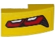 Part No: 11477pb023R  Name: Slope, Curved 2 x 1 No Studs with Corvette Taillight Pattern Model Right Side (Sticker) - Set 75870