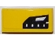 Part No: 11477pb024R  Name: Slope, Curved 2 x 1 No Studs with Chevrolet Corvette Upper Headlight Pattern Model Right Side (Sticker) - Set 75870
