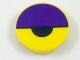 Part No: 14769pb199  Name: Tile, Round 2 x 2 with Bottom Stud Holder with Dark Purple Large Semicircle and Black Small Semicircle Pattern (Octi Eye)
