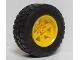 Part No: 15038c03  Name: Wheel 56mm D. x 34mm Technic Racing Medium, 6 Pin Holes with Black Tire 94.3 x 38 R (15038 / 92912)
