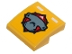 Part No: 15068pb257  Name: Slope, Curved 2 x 2 with Hammerhead Shark Head Pattern (Sticker) - Set 60264