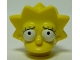 Part No: 15524pb01  Name: Minifigure, Head Modified Simpsons Lisa Simpson - Worried Look Pattern